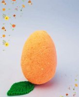 Бомбочки для ванны с куркумой в форме яйца