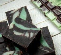 Шоколадно-м'ятне мило з нуля холодним способом