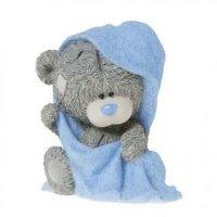 Мыло из основы в 3Д элит форме Тедди в полотенце