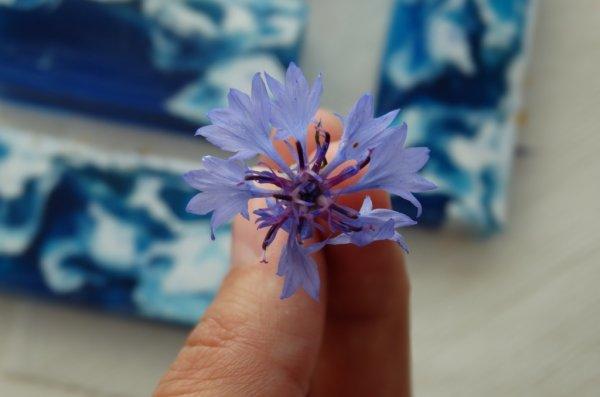 Квіткове мило під нарізку «Волошкове поле»