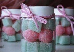 Клубнично-мятный сахарный скраб