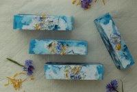 Цветочное мыло под нарезку «Васильковое поле»