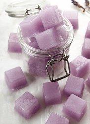 Лавандовый сахарный скраб в кубиках