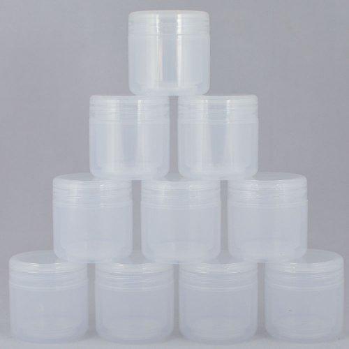 Баночка-термос косметическая Ascorp 50 мл прозрачная набор 10 шт (420)