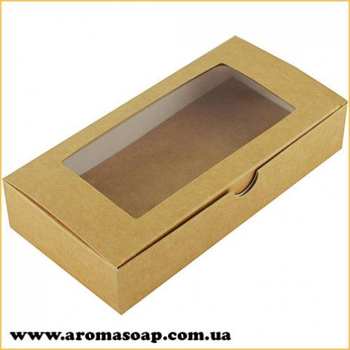 Коробка натуральная-Крафт с окошком