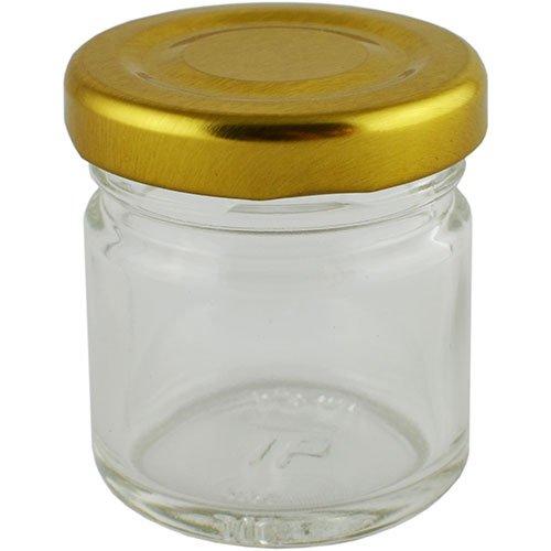 Баночка косметическая Ascorp Джем 40 мл стеклянная набор 10 шт (4995)