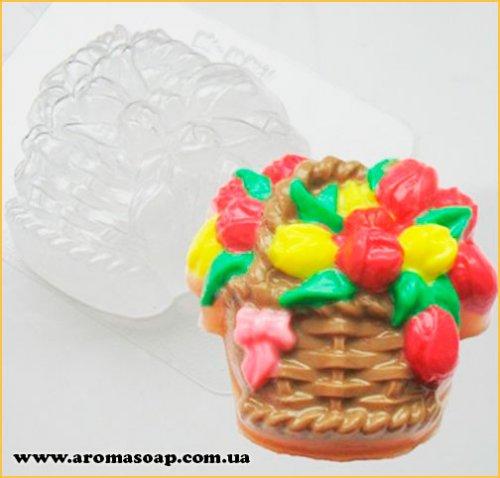 Корзина тюльпанов 125 г (пластик)