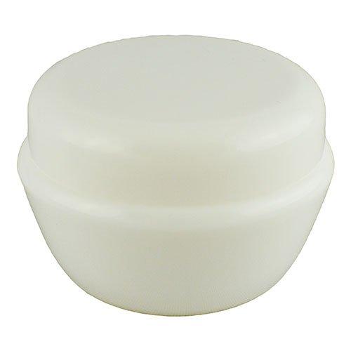 Баночка косметична Ascorp фігурна 30мл біла набір 10шт (2030)