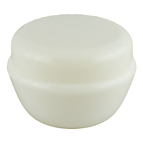 Баночка косметична Ascorp фігурна 50мл біла набір 10шт (2608)
