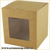 Коробка для 3D мыла Крафт с окошком