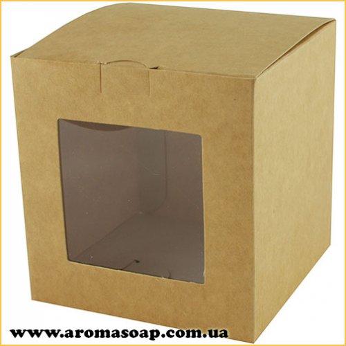 Коробка для 3D мила Крафт з віконцем