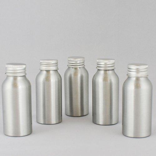 Флакон косметичний Ascorp алюмінієвий 50мл сріблястий 5шт (1443)
