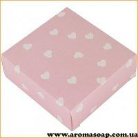 Коробка микс Розовая в сердечко