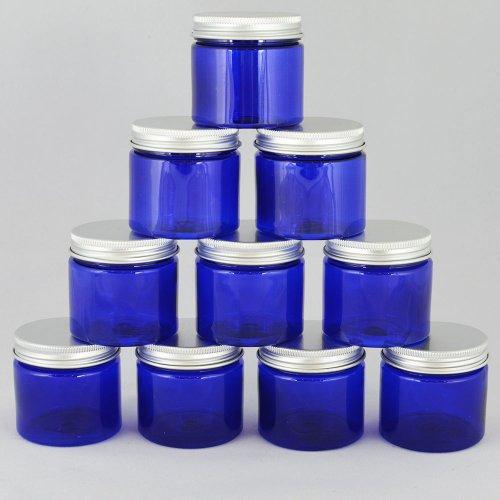 Баночка косметическая Ascorp с алюминиевой крышкой 50 мл синяя набор 10 шт (1400)