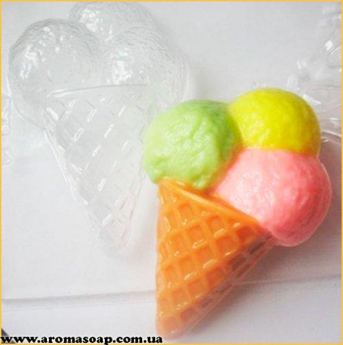 Мороженое рожок 80 г (пластик)