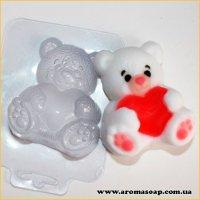 Мишко з сердечком 70г (пластик)
