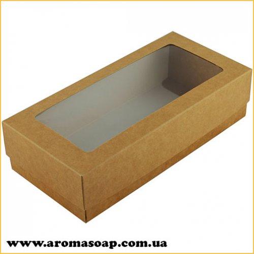 Коробка-пенал з віконцем Крафт