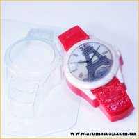 Часы наручные/Кожаный браслет 95г (пластик)