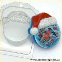 Круг в новогодней шапке 108 г (пластик)
