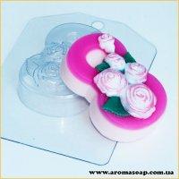 8 Марта/Розы по диагонали 90 г (пластик)