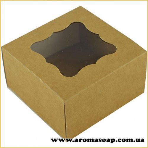 Коробка преміум Крафт з фігурним віконцем