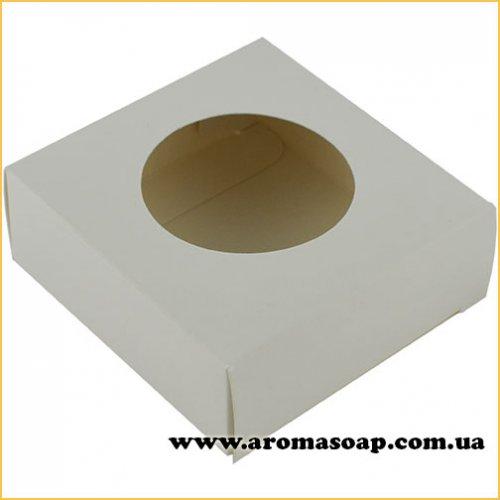 Коробка микс с круглым окошком Белая