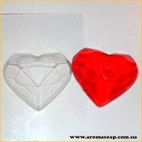 Рубиновое сердце 60 г (пластик)
