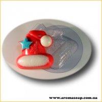 Рождественский колпак 80г (пластик)