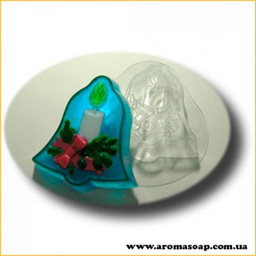 Рождественский колокольчик 100 г (пластик)