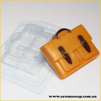 Портфель с 2-мя карманами 95 г (пластик)