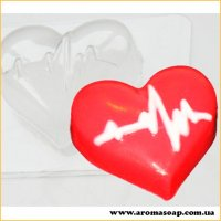 Сердце с кардиограммой 50 г (пластик)