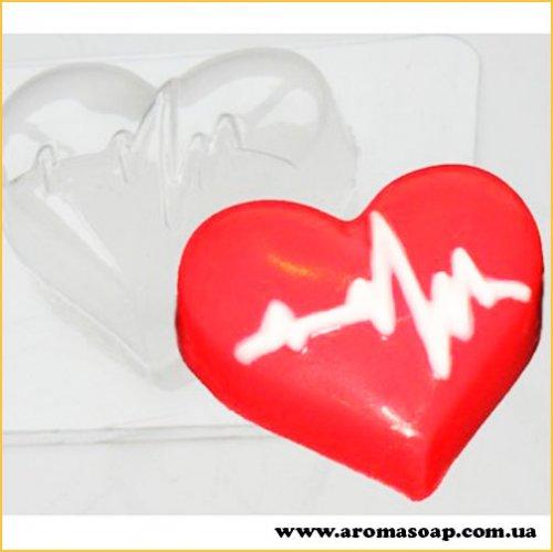 Серце з кардіограмою 50г (пластик)