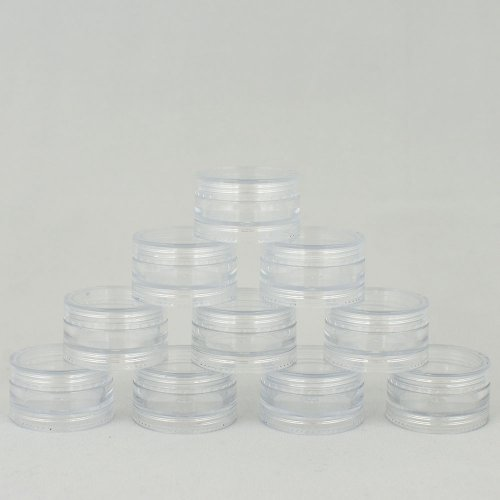 Баночка косметична Ascorp 3мл прозора набір 10шт (2253)