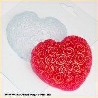 Сердце из роз 70 г (пластик)