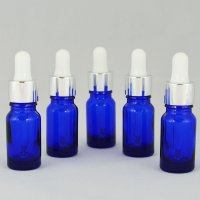 Флакон косметичний з піпеткою білою Ascorp скляний 10мл синій набір 5шт (2157)