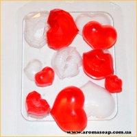 Сердечка-поцелуйчики (пластик)