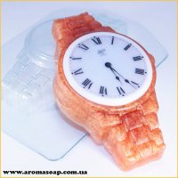 Часы на металлическом браслете 100г (пластик)