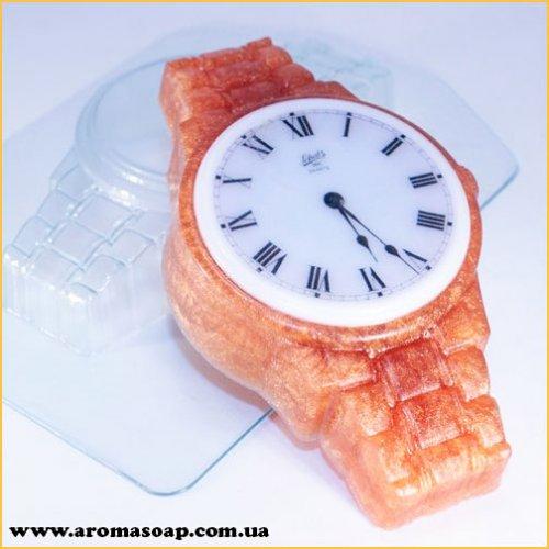 Годинник на металевому браслеті 100г (пластик)