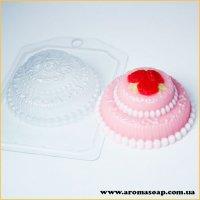 Торт міні з трояндами 105г (пластик)