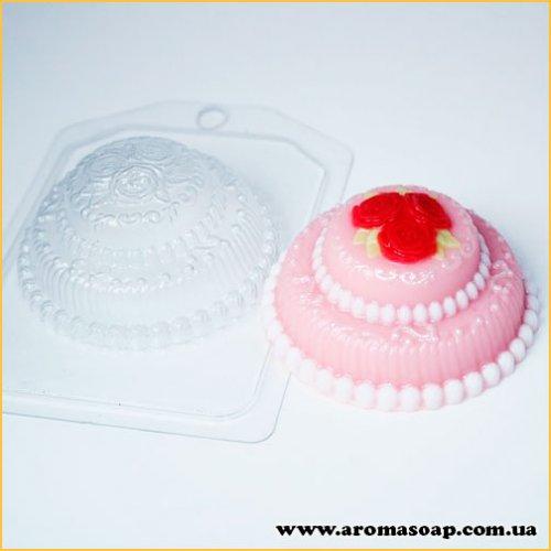 Торт мини с розами 105 г (пластик)