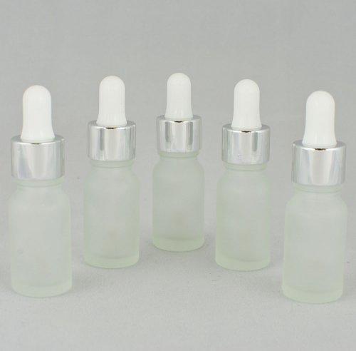 Флакон косметический с пипеткой белой Ascorp стеклянный 10 мл матовый набор 5 шт (2203)
