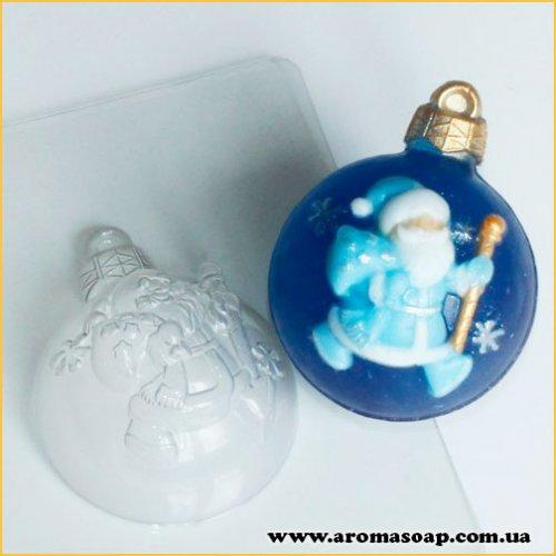 Шар/Дед Мороз 50 г (пластик)