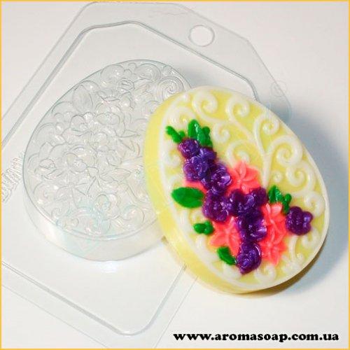 Яйце плоске/Орнамент і квіти 90г (пластик)