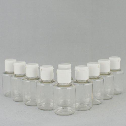 Бутылочка и Крышка флип-топ косметическая  Ascorp 30 мл прозрачная набор 10 шт (895)