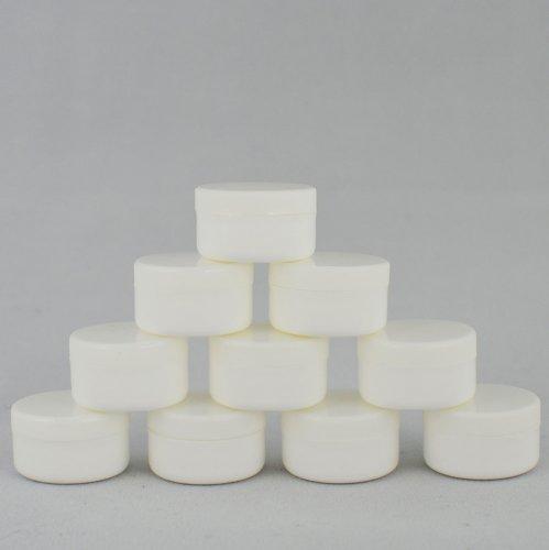 Баночка косметична Ascorp 4мл біла набір 10шт (891)