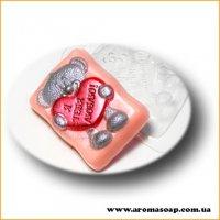 Влюбленный мишка 139г (пластик)