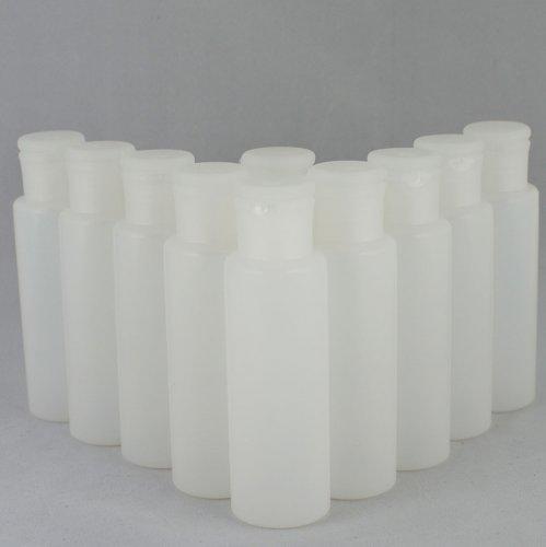 Бутылочка и Колпачок флип-топ косметическая Ascorp 100 мл полупрозрачная набор 10 шт (889)