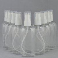 Бутылочка и Дозатор косметическая Ascorp плоская 100мл прозрачная набор 10шт (885)