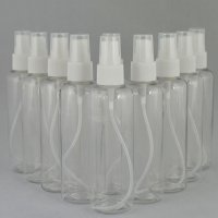 Бутылочка и Пульверизатор косметическая Ascorp круглая 100 мл прозрачная набор 10 шт (884)