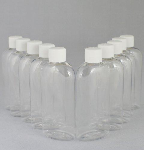 Бутылочка и Колпачок со вставкой косметическая Ascorp плоская 100 мл прозрачная набор 10 шт (880)